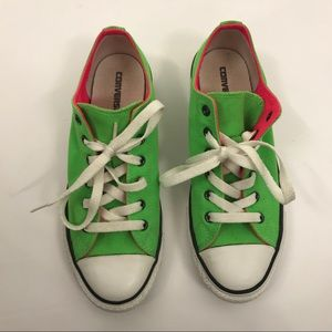 Neon Green and Pink Converse All Star Chucks